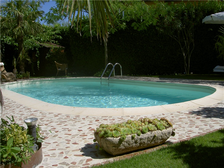 PISCINA CRETA , LINER COLOR SABBIA